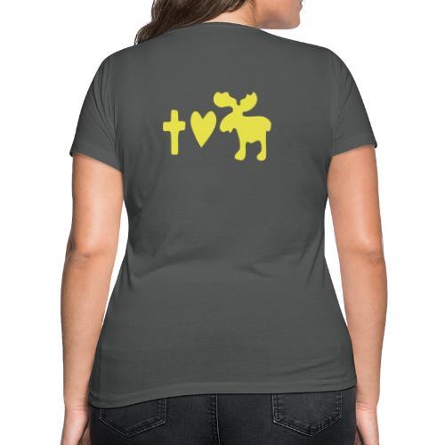 Glaube, Liebe, Elch! - Frauen Bio-T-Shirt mit V-Ausschnitt von Stanley & Stella