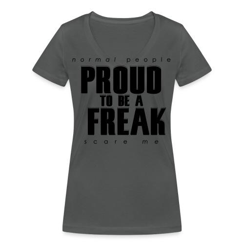 PROUD TO BE A FREAK - GHOUL - Frauen Bio-T-Shirt mit V-Ausschnitt von Stanley & Stella