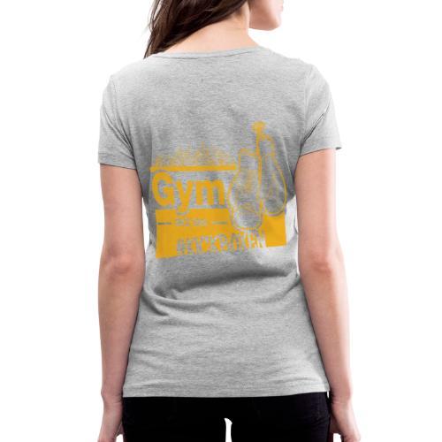 Gym Druckfarbe Orange - Frauen Bio-T-Shirt mit V-Ausschnitt von Stanley & Stella
