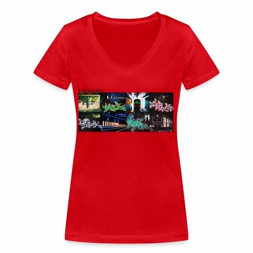 stick x4 tee 2 ver0 1 - Økologisk Stanley & Stella T-shirt med V-udskæring til damer
