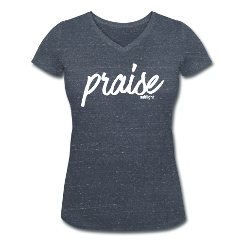 Praise (WHITE) - Women's Organic V-Neck T-Shirt by Stanley & Stella