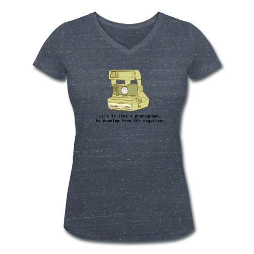 Photographic Lives - Women's Organic V-Neck T-Shirt by Stanley & Stella