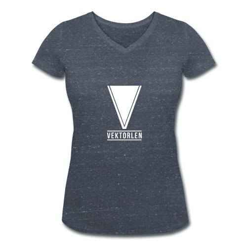 Premium-Logo Dick - Frauen Bio-T-Shirt mit V-Ausschnitt von Stanley & Stella