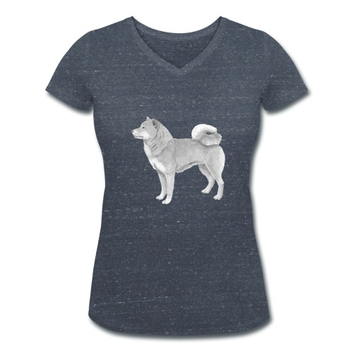 shiba inu - Økologisk Stanley & Stella T-shirt med V-udskæring til damer