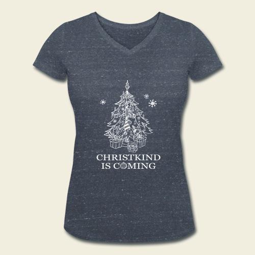 Christkind neu weiss - Frauen Bio-T-Shirt mit V-Ausschnitt von Stanley & Stella