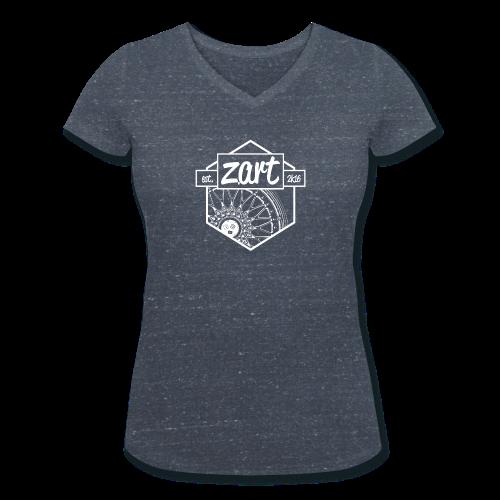 z.art Logo | white - Frauen Bio-T-Shirt mit V-Ausschnitt von Stanley & Stella