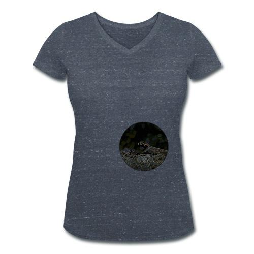 Freaky Lizard - Frauen Bio-T-Shirt mit V-Ausschnitt von Stanley & Stella