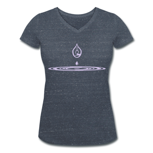 Zen-massage Logo-Design - Women's Organic V-Neck T-Shirt by Stanley & Stella