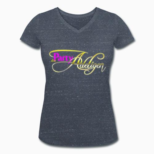 Die PartyAdeligen - Frauen Bio-T-Shirt mit V-Ausschnitt von Stanley & Stella