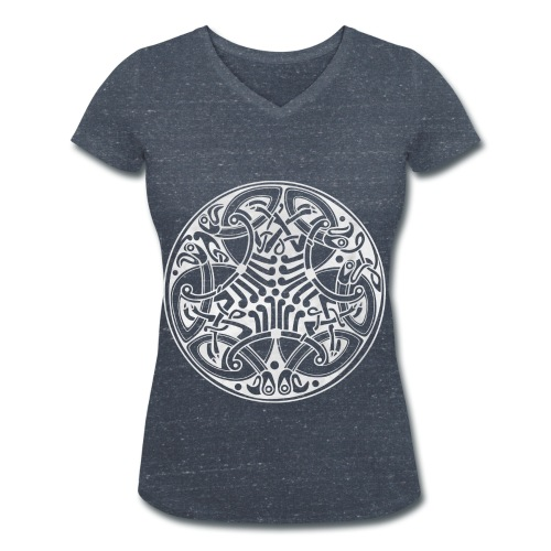 Old Celtic Birds Ornament Mandala 2 - Frauen Bio-T-Shirt mit V-Ausschnitt von Stanley & Stella