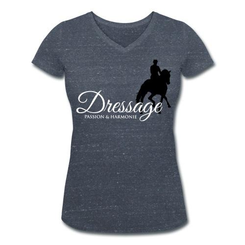Dressage - Frauen Bio-T-Shirt mit V-Ausschnitt von Stanley & Stella