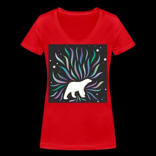 polar ours - T-shirt bio col V Stanley & Stella Femme