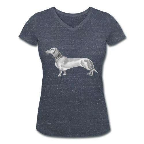 Dachshund smooth haired - Økologisk Stanley & Stella T-shirt med V-udskæring til damer
