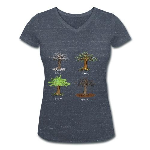 four seasons - Frauen Bio-T-Shirt mit V-Ausschnitt von Stanley & Stella