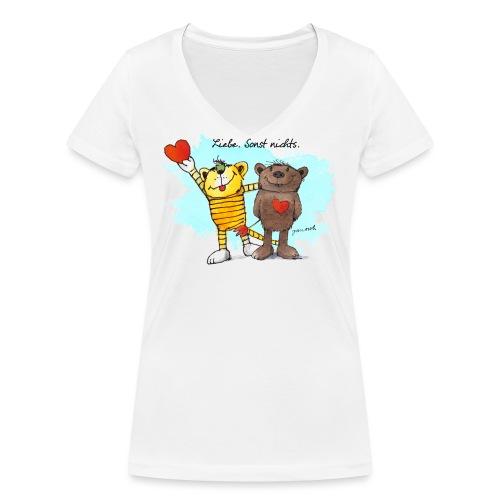 Janosch Tiger Und Bär Beste Freunde Liebe - Frauen Bio-T-Shirt mit V-Ausschnitt von Stanley & Stella