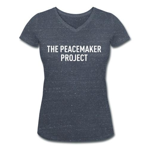 LOGO WHITE - Frauen Bio-T-Shirt mit V-Ausschnitt von Stanley & Stella