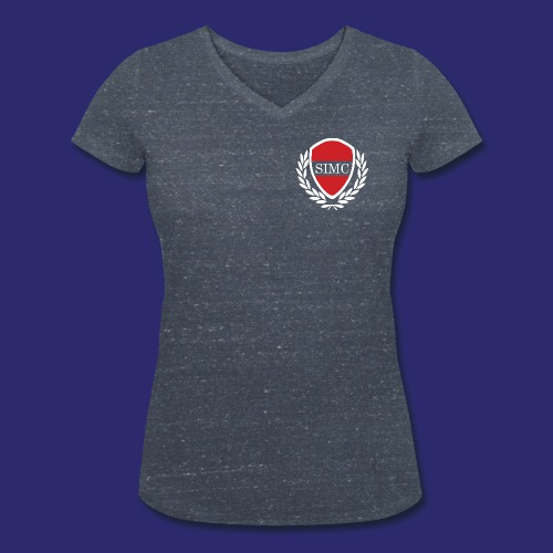 SIMC Logo front png - Women's Organic V-Neck T-Shirt by Stanley & Stella