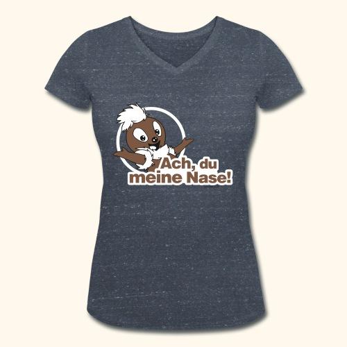 Pittiplatsch Ach, du meine Nase 2D - Frauen Bio-T-Shirt mit V-Ausschnitt von Stanley & Stella