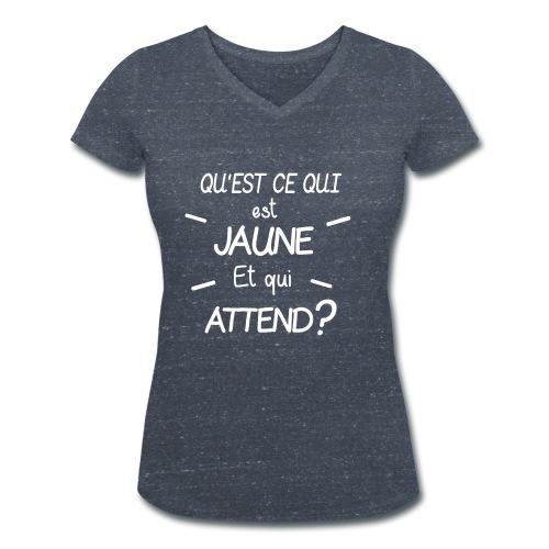 Edition Limitee Jonathan Black - T-shirt bio col V Stanley & Stella Femme