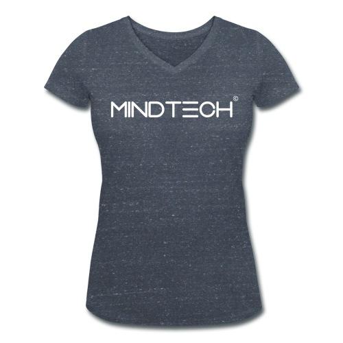 MindTech weiß - Frauen Bio-T-Shirt mit V-Ausschnitt von Stanley & Stella
