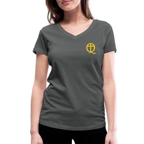QC Gul - Ekologisk T-shirt med V-ringning dam från Stanley & Stella