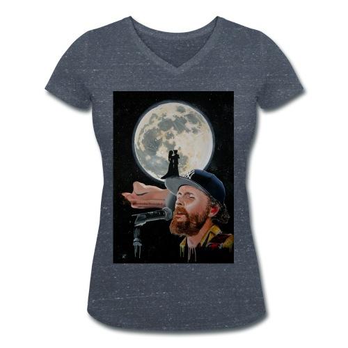 Chiaro di Luna - T-shirt ecologica da donna con scollo a V di Stanley & Stella