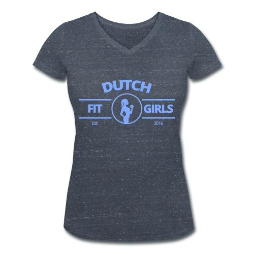 Dutch Fit Girls - Vrouwen bio T-shirt met V-hals van Stanley & Stella