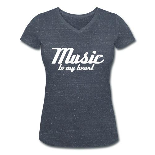 music to my H png - Vrouwen bio T-shirt met V-hals van Stanley & Stella