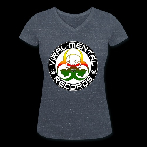 Viral Mental Records Logo - Women's Organic V-Neck T-Shirt by Stanley & Stella
