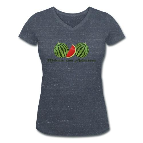 Melonen - Frauen Bio-T-Shirt mit V-Ausschnitt von Stanley & Stella