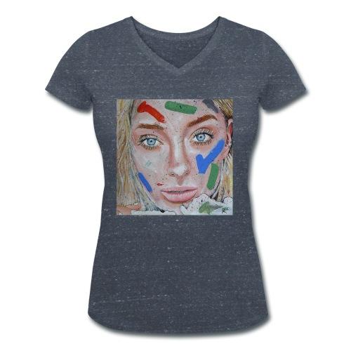 Anna - T-shirt ecologica da donna con scollo a V di Stanley & Stella