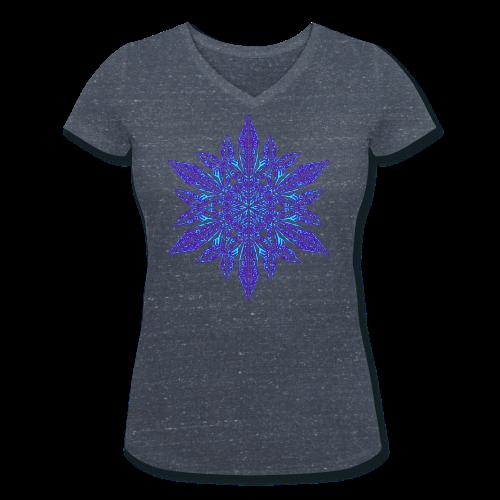 Schneeflocke II - Frauen Bio-T-Shirt mit V-Ausschnitt von Stanley & Stella