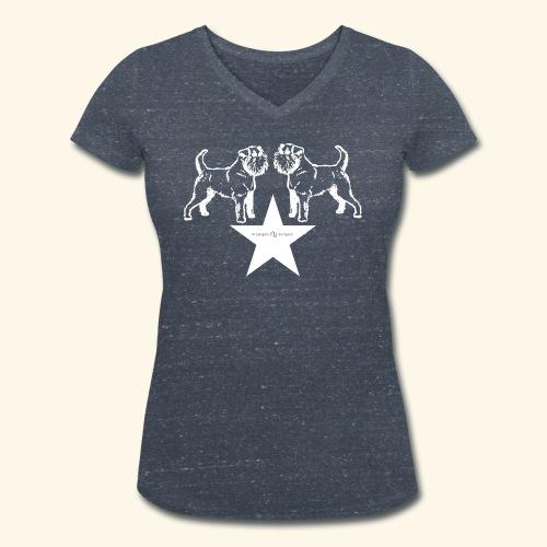 Brussels Griffon star - T-shirt bio col V Stanley & Stella Femme