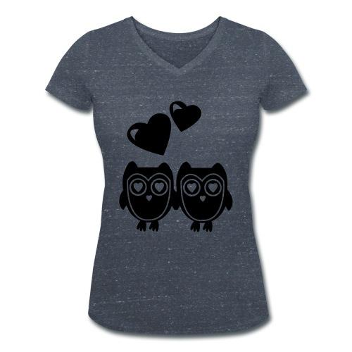 verliebte Eulen - Frauen Bio-T-Shirt mit V-Ausschnitt von Stanley & Stella