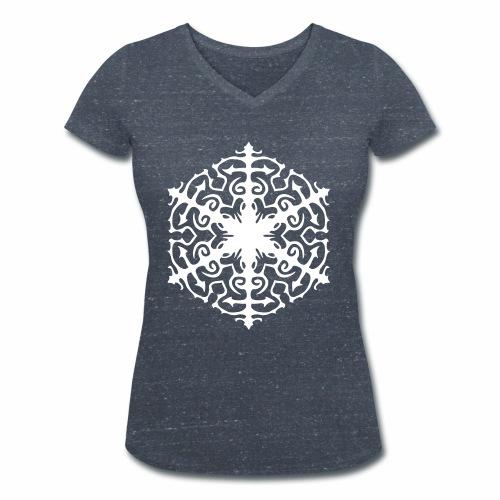 Schneeflocke Ornament Pixellamb - Frauen Bio-T-Shirt mit V-Ausschnitt von Stanley & Stella