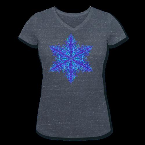 Schneeflocke III - Frauen Bio-T-Shirt mit V-Ausschnitt von Stanley & Stella