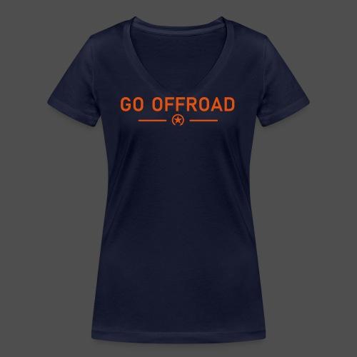 go offroad - Frauen Bio-T-Shirt mit V-Ausschnitt von Stanley & Stella