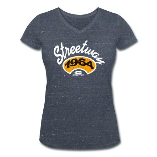 u053 - T-shirt bio col V Stanley & Stella Femme