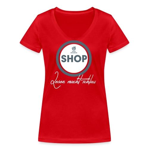 Bookshop png - Frauen Bio-T-Shirt mit V-Ausschnitt von Stanley & Stella