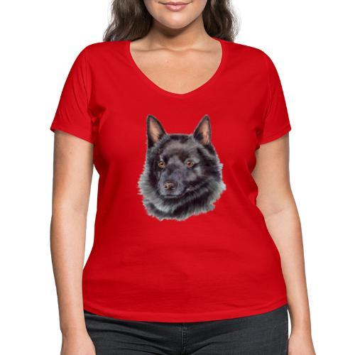 schipperke - M - Økologisk Stanley & Stella T-shirt med V-udskæring til damer