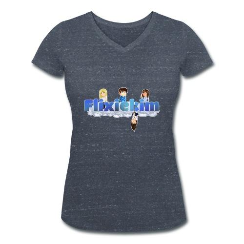 flixiekim karaktär 2 png - Ekologisk T-shirt med V-ringning dam från Stanley & Stella