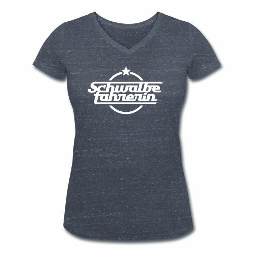 Schwalbefahrerin - Women's Organic V-Neck T-Shirt by Stanley & Stella