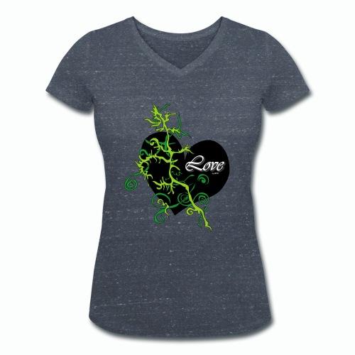Black Love - Frauen Bio-T-Shirt mit V-Ausschnitt von Stanley & Stella