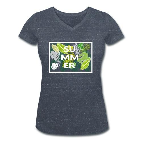 Summer - Sommer - Frauen Bio-T-Shirt mit V-Ausschnitt von Stanley & Stella