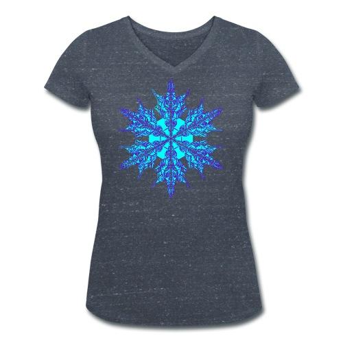 Schneeflocke IV - Frauen Bio-T-Shirt mit V-Ausschnitt von Stanley & Stella