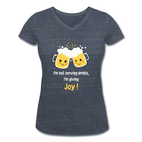 Giving Joy - Women's Organic V-Neck T-Shirt by Stanley & Stella
