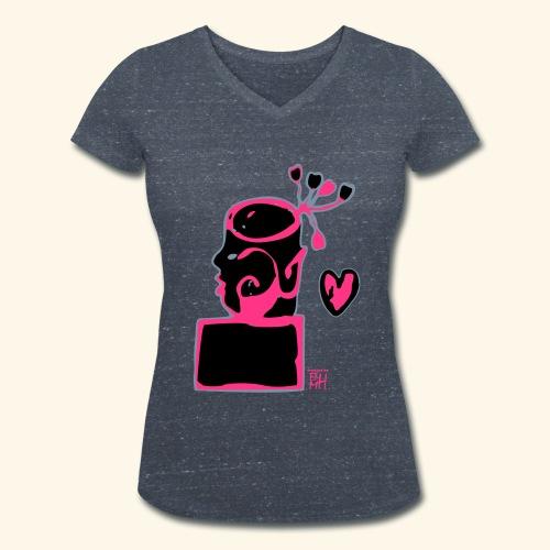 broken heart - Frauen Bio-T-Shirt mit V-Ausschnitt von Stanley & Stella