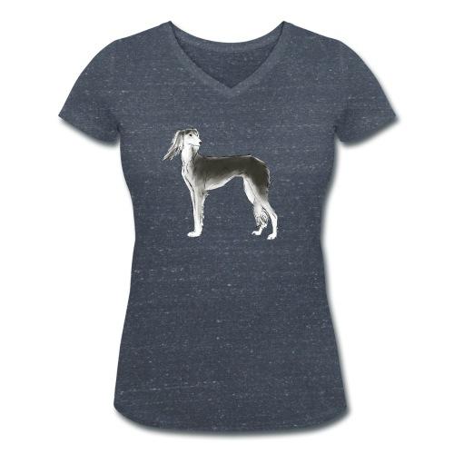 Saluki - Frauen Bio-T-Shirt mit V-Ausschnitt von Stanley & Stella