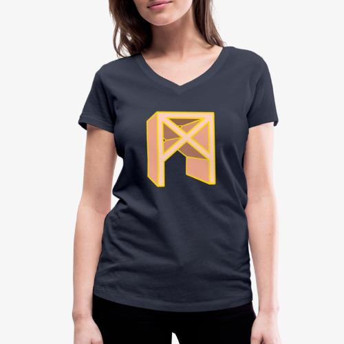 Rune Mannaz in Living-Coral - Frauen Bio-T-Shirt mit V-Ausschnitt von Stanley & Stella