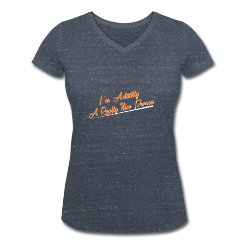 nice-person - Women's Organic V-Neck T-Shirt by Stanley & Stella